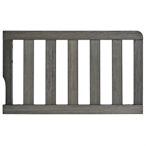 Dream On Me Universal Convertible Crib Toddler Guard Rail in Weathered Gray