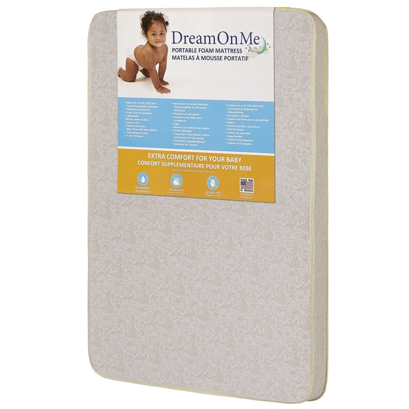 "Dream On Me 3"" Foam Carina Collection Pack N Play Mattress ..."