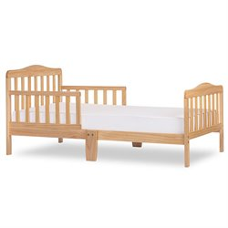 Dream On Me Classic Design Wooden Toddler Bed in Natural