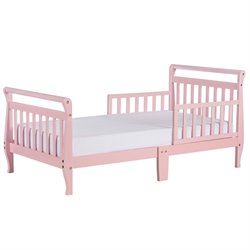 Dream On Me Sleigh Toddler Bed in Pink