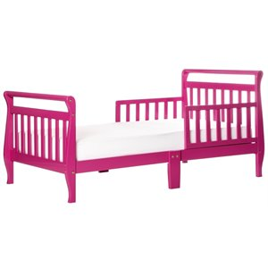 Dream On Me Sleigh Toddler Bed in Fuschia Pink