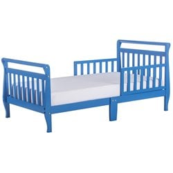 Dream On Me Sleigh Toddler Bed in Wave Blue