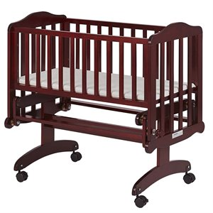 Dream On Me Lullaby Cradle Glider in Cherry