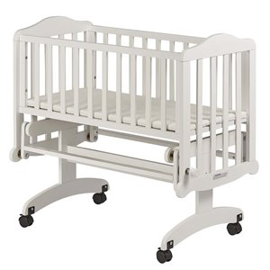 Dream On Me Lullaby Cradle Glider in White