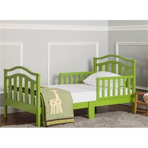 Dream On Me Elora Toddler Bed in Lime Green