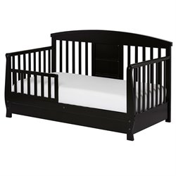 Dream On Me Deluxe Toddler Day Bed in Black