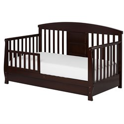 Dream On Me Deluxe Toddler Day Bed in Espresso
