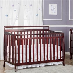 Dream On Me Liberty 5-in-1 Convertible Crib in Cherry