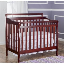 Dream On Me 4-In-1 Mini Convertible Crib in Cherry