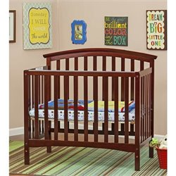 Dream On Me Ashland 4-in-1 Convertible Mini crib in Cherry