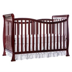 Dream On Me Violet 7-in-1 Convertible Life Style Crib in Cherry