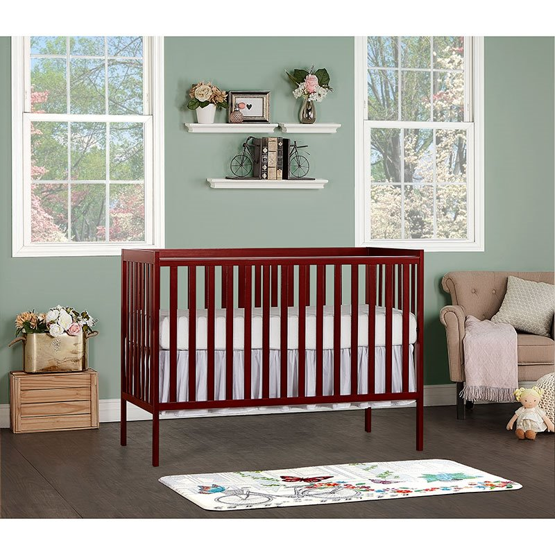 Dream On Me Synergy 5 In 1 Convertible Crib In Cherry 657 C