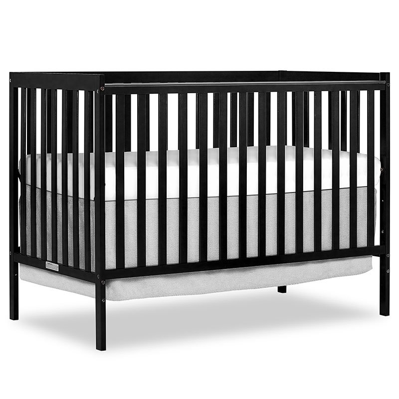 Dream On Me Synergy 5 In 1 Convertible Crib In Black 657 K