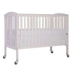 Dream On Me Folding Full Size Convenience Crib in White
