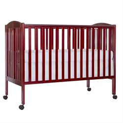 Dream On Me Folding Full Size Crib in Cherry