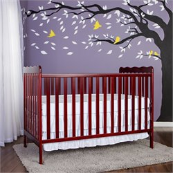 Dream On Me Classic 3-in-1 Convertible Crib in Cherry