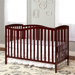 Dream On Me Chelsea 5-in-1 Convertible Crib in Cherry