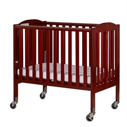 2-in-1 Folding Birch Portable Crib