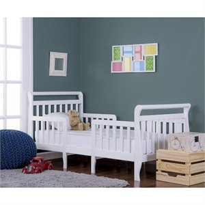 Dream On Me Emma 3 in 1 Convertible Toddler Bed  in White