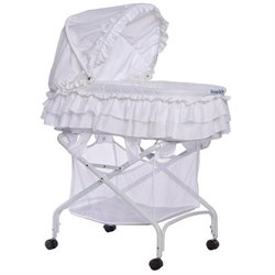 Dream On Me Layla 2 In 1 Bassinet To Cradle In White