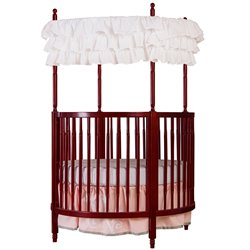 Dream On Me Sophia Posh Circular Crib In Cherry