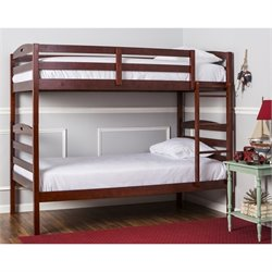 Dream On Me Nova 2-In-1 Twin Over Twin Bunk Bed In Mahogany