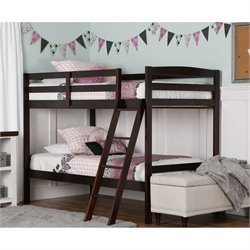 Dream On Me Taylor Twin Over Twin Bunk Bed in Espresso