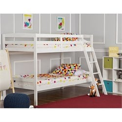 Dream On Me Taylor Twin Over Twin Bunk Bed in White