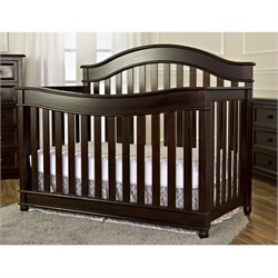 Dream On Me Mia Moda 5 In 1 Lifestyle Convertible Crib In Espresso