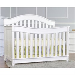 Dream On Me Mia Moda 5 In 1 Lifestyle Convertible Crib In White