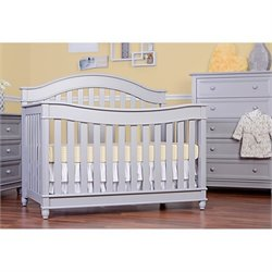 Evolur Hampton 5 in 1 LifeStyle Convertible Crib in Pebble Gray