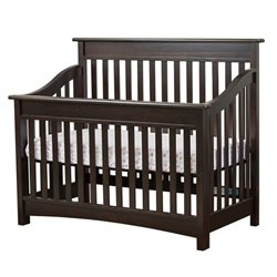 Evolur Avery 5 in 1 LifeStyle Convertible Crib in Espresso