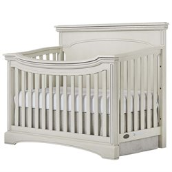 Evolur Catalina Flat Top Crib in Antique Gray