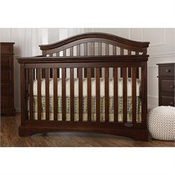 Evolur Adora Curve Top Crib in Sienna