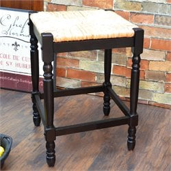 Carolina Classics Frederick Bar Stool in Black