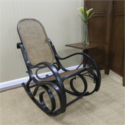 Carolina Classic Leona Bentwood Rocker in Black