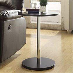Carolina Classic Bryce Round Accent Table in Black