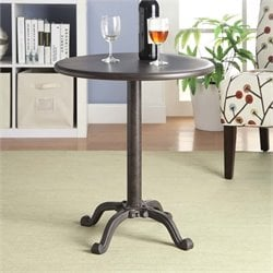 Carolina Classic Katy Pedestal Accent Table in Brown
