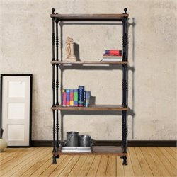 Carolina Classic Keegan 4 Tier Metal Storage Shelf in Black