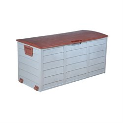 The-Hom Cadena Storage Deck Box with Wheels in Brown