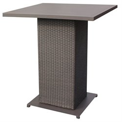TKC Napa Outdoor Wicker Pub Table in Espresso