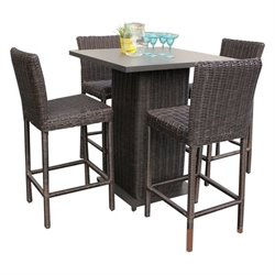 TKC Venice 5 Piece Wicker Pub Set in Chestnut Brown