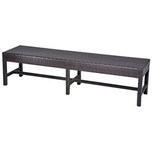 TKC Napa Outdoor Wicker Dining Bench in Espresso