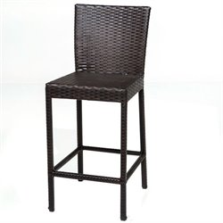 TKC Napa Outdoor Wicker Bar Stools in Espresso (Set of 2)