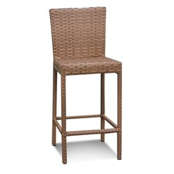 TKC Laguna Outdoor Wicker Bar Stools in Caramel (Set of 2)
