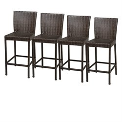 TKC Napa Outdoor Wicker Bar Stools in Espresso