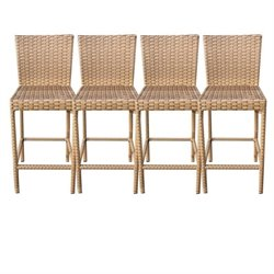 TKC Laguna Outdoor Wicker Bar Stools in Caramel