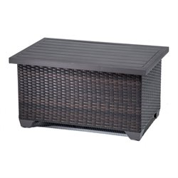 TKC Belle Outdoor Wicker Coffee Table in Espresso