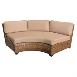 TKC Laguna Curved Outdoor Wicker Chair in Wheat
