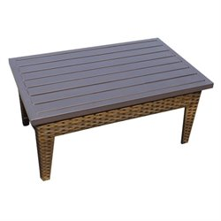 TKC Manhattan Outdoor Wicker Coffee Table in Walnut